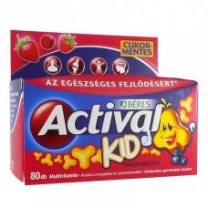 BERES ACTIVAL KID RÁGÓTABLETTA 80X