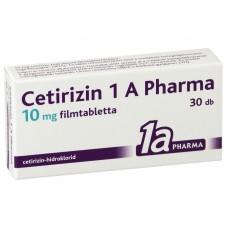 CETIRIZIN 1A PHARMA 10MG FILMTABL. 30X