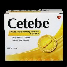 CETEBE 500MG RETARD KEMENY KAPSZULA 120X