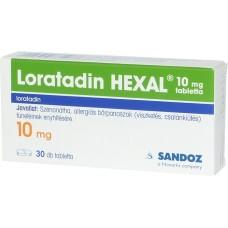 LORATADIN HEXAL 10 MG TABL. 30X