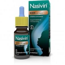 NASIVIN KIDS 0,25MG/ML ORRCSEPP 1X10ML