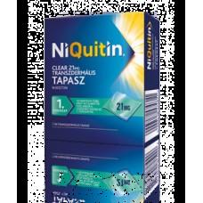 NIQUITIN CLEAR 21 MG TRANSZD.TAP. 7X