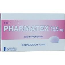 PHARMATEX 18,9 MG LAGY HUVELYKAPSZ. 6X