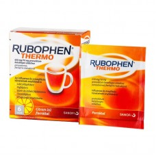 RUBOPHEN THERMO 650MG/10MG GRAN.BELS OLD. 6X