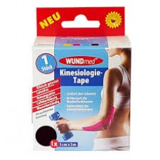WUNDMED KINESIO TAPE 5CMX5M FEKETE